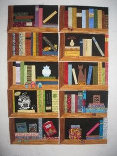 Quilted Jar Bookcase – Create jars that appear to be sitting on a shelf. Description from fenopatrn.com. I searched for this on bing.com/images