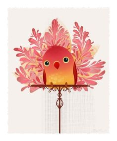 Red Birdie Mini Print