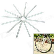 Bike Wheel Spoke ABS Safety Reflective Tube Reflector - Grey (12 PCS) Price: $4.44