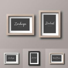 Free Wood Photo Frame Mockup