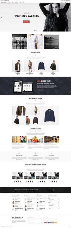 Snapshop – Responsive WooCommerce WordPress Theme #html5wordpressthemes #responsivewordpressthemes #parallax #html5 #css3