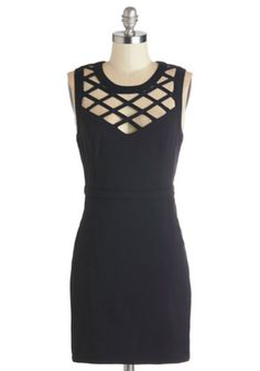 ModCloth LBD Short Length Sleeveless Bodycon Lattice and Harmony Dress