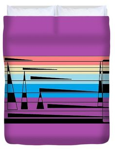 Duvet Cover of 'Navajo 4' a series of designs by Sumi e Master Linda Velasquez to Honor the Navajo People.