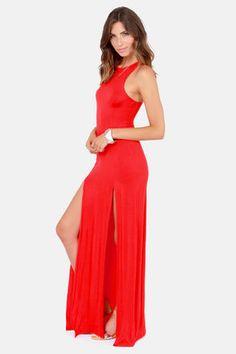 Stem Spells Red Racerback Maxi Dress by LuLu*s