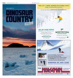 Edmonton Journal & Calgary Herald Discover Winter magazine, page 2, 2014 publication.