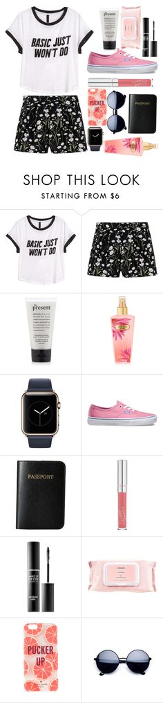 """""""☼~sorry, basic just won't do"""" by audwepaudwe ❤ liked on Polyvore featuring H&M, Giambattista Valli, Vans, Vera Bradley, MAKE UP FOR EVER, Mamonde and Kate Spade"""