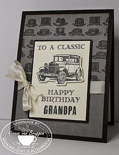 Yvonne is Stampin´ and Scrapping. Stampin' Up! Bday Cards, Birthday Cards For Men, Male Birthday, 90th Birthday, Masculine Birthday Cards, Masculine Cards, Scrapbooking, Scrapbook Cards, Card Making Inspiration