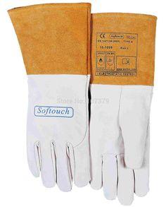 TIG MIG Work Glove Grain Goat Leather Welding Safety Glove