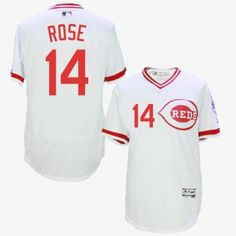 dda901ea9c8 Mens Authentic Home White Cincinnati Reds Pete Rose Jersey Flex Base MLB  Majestic Cheap Baseball Jerseys