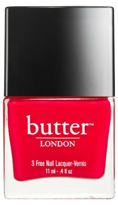 Beauty Must-Have: Butter London Nail Polish in Ladybird, limited edition color with brightening up your February Fashion Week in mind. Butter London Ladybird, Love Nails, Pretty Nails, Red Nails, Summer Pedicure Colors, Summer Pedicures, Summer Nails, Butter London Nail Polish, London Nails
