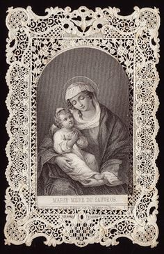 Old Christmas Post Сards — Mary Mother of God (413x640)