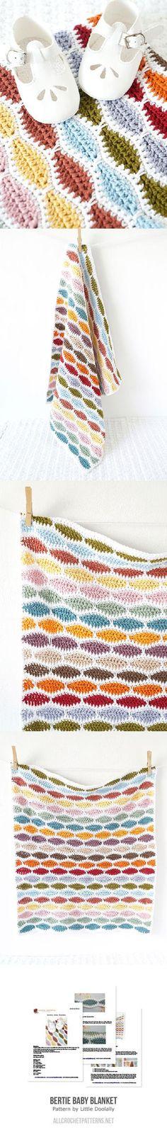 Bertie Baby Blanket crochet pattern by Little Doolally