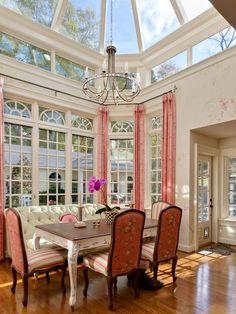 Elegant dining, conservatory style