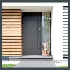 25 modern front door with wood accents - decoration on the front door .- 25 moderne Haustür mit Holzakzenten – Deko Vor Der Haustür Ideen 25 modern front door with wood accents / door - Modern Entrance Door, Modern Front Door, Front Door Entrance, Front Door Colors, House Entrance, Front Entry, Entry Doors, Modern Exterior Doors, Entrance Ideas