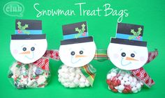 How to Make a Snowman Treat Bag with Free Printable | Tween Crafts - Connecting Mom and Daughter through crafting