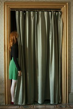 Anni Leppälä, Door with curtains, 2012 Pigment print, framed 36,5 x 26 cm (with frame) Edition of 7