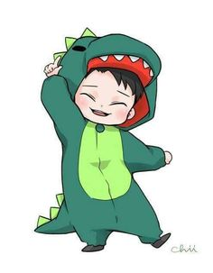 Is that- is that Phil in Dan's onesie- I think it its omfg<< It's actually Chen from EXO 😂 Anime Chibi, Exo Anime, Bts Chibi, Exo Cartoon, Exo Stickers, Exo Fan Art, Exo Chen, Dibujos Cute, Kpop Fanart