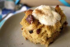 Easiest Eggnog Bread Pudding