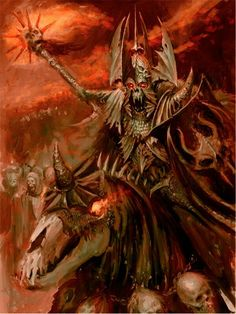 With the defeat of the order, the Blood Dragons were reborn under Walach Harkon… Fantasy Battle, Fantasy Rpg, Dark Fantasy Art, Medieval Fantasy, Dark Art, Warhammer Fantasy, Warhammer Art, Warhammer 40000, Warhammer Vampire Counts