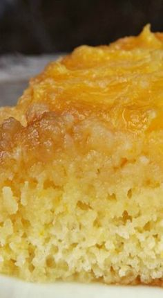 Vintage 1944 Cake Recipe. Honey Orange Upside Down Cake ~ This World War II era cake is made with fresh orange slices baked in a brown sugar and butter glaze. After the cake is flipped upside down like a pineapple upside down cake, it soaks in a warm orange-honey sauce. Talk about tender and moist and zestfully flavorful!
