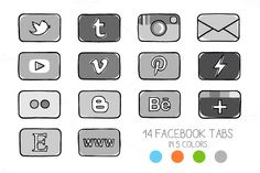 14 facebook timeline tab images by Side Project on Creative Market