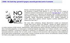 19/06/2012 - ImpresaMia - No Cash Day: giovedì 21 giugno, seconda giornata contro il contante