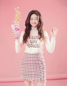 Emotions are like popcorns. sometimes, we pop ! #Koreanfashion