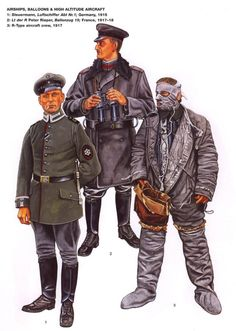 German airships, balloons and high altitude aircraft uniforms WW1.