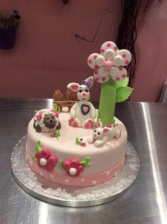 Tarta de cumpleaños de conejitos
