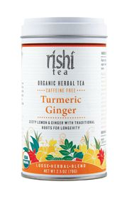 Turmeric tea is often used for coughs, colds and  flus. It is also regarded as nature's most effective anti-  inflammatory herb and is widely used for arthritic pain and  inflammation. Turmeric Ginger is perfect on its own and  best with a squeeze of 1/4 lemon and   honey.