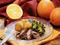 Orangen Grünkohl mit Ente