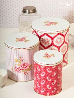 tilda tins to store bits and bobs!
