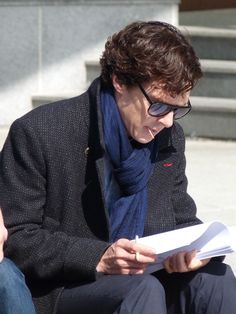 Aren't they though: Benedict Cumberbatch & Mark Gatiss on the set of Sherlock S3