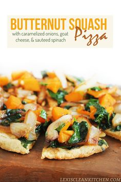 Butternut Squash and Caramelized Onion Paleo Pizza