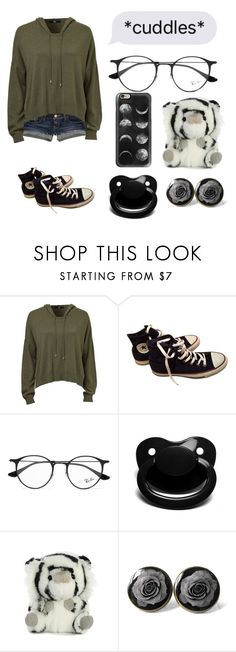 """Late nights with daddy"" by xxkrysxx ❤ liked on Polyvore featuring Hollister Co., Converse, Ray-Ban, Casetify, lazy and daddy"
