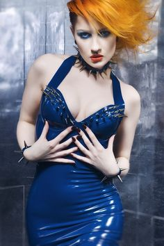 LATEX SPIKE DRESS   made to order by OohLaLatex on Etsy, £210.00