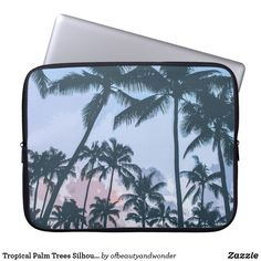 Tropical Palm Trees Silhouette | Laptop Sleeve Palm Tree Silhouette, Custom Laptop, Best Laptops, Personalized Products, Laptop Sleeves, Palm Trees, Your Photos, Looks Great, Tropical