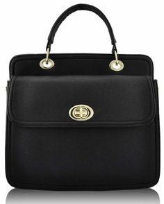 Ladies Designer Black Slim Doctors Bag Twist Lock Womens Handbag KCMODE KCMODE  to enter online shopping or purchase click on Amazon right here  http://www.amazon.com/dp/B00GJTSUX0/ref=cm_sw_r_pi_dp_qP3Stb07XESM6X4E
