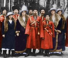 Nicholas II and the Romanovs colourized.
