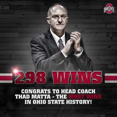 3-12-2015 COACH THAD MATTA BECOMES WINNINGEST COACH IN THE HISTORY OF OHIO STATE BASKETBALL.