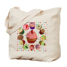Eileen's Lovehearts Cupcakes: Eileen's Lovehearts Cupcakes Tote Bag: Yummy pastel-coloured cupcakes with Hearts background Heart Background, Food Design, Diaper Bag, Tote Bag, Cupcakes, Stuff To Buy, Bags, Inspiration, Handbags