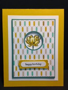 Blooming with Hope,  Birthday Card, Stampin' Up!, Handmade Cards, Rubber Stamping,