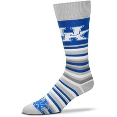 For Bare Feet University of Kentucky Lotta Stripe Dress Socks (Blue, Size One Size) - NCAA Licensed Product, NCAA Novelty at Academy Sports