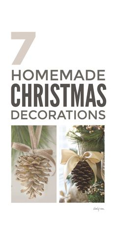 7 easy DIY homemade Christmas decorations that are lovely to make with kids. These simple rustic ideas for Christmas ornaments using cheap and free natural outdoor materials are wonderful for a Scandinavian style Christmas on a budget. #christmasdecorations #homemadechristmasdecorations #rusticchristmasdecorations #naturalchristmasdecorations #naturaldecorations #naturalchristmas #homemadechristmas #rusticchristmas