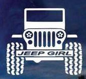 Jeep Girl 2 - Vinyl Decal