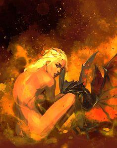 Daenerys Targaryen, Game of Thrones, Karsten Schreurs Got Dragons, Mother Of Dragons, Valar Dohaeris, Valar Morghulis, Arte Game Of Thrones, Game Of Throne Daenerys, Daenerys Targaryen Art, Geek Movies, Game Of Thones