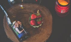 Anniversary Wine Gift Custom Wine Bottles, Custom Wine Labels, Personalized Wine Bottles, Wine Gifts, Strawberry, Anniversary, Fruit, Food, Personalized Wine Labels
