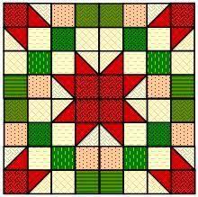 Afbeeldingsresultaat voor christmas quilt block