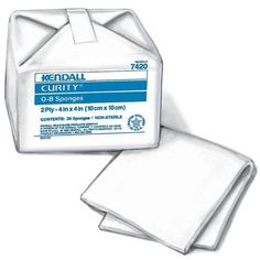 "CURITY O-B Sponges, Cotton 4"" x 4"", Case (2818) by Curity. $177.90. 40/bag, 50bags/case.. Total of 2000 per case.. Cotton 4"" x 4"".. Packaged for easy-access, single-use convenience, the soft yet resilient CURITY Cleaners boast high wet strength that allows them to maintain all of their features even after sterilization. Sold by case only."