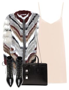 """""""Untitled #3983"""" by maddie1128 ❤ liked on Polyvore featuring Elizabeth and James, Raey and Yves Saint Laurent"""